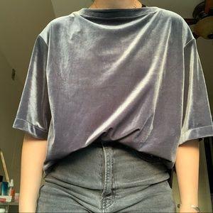 Uniqlo Velvet Blouse
